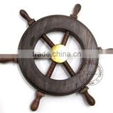 WOODEN SHIP WHEEL - CRAFT BOAT 6""