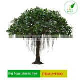 Outdoor Large Artificial ficus tree with plastic leaves