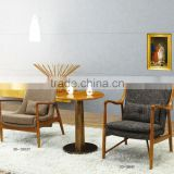 commericial solid wood hotel banquet furniture corner wooden lounge armrest antique indian chair