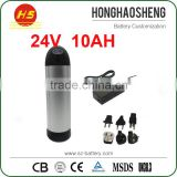 High Quality Water Bottle Ebike Battery 24v 10Ah Li-Ion Battery Pack Electric Bicycle Batteries