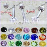 Wholesale Round Zircon High Polish Stainless Steel Ear Tragus Barbells Ear Studs [ET-101]