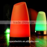 Color Changing Bedroom LED Night Light Wiht Button Switch in the Shape of Pillar Candle Night Light