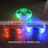 China Supplier Flashing Light Motivational LED Wristbands With Push Button Switch on Sale