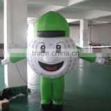 customized inflatable giant baseball boy/ pvc inflatable advertising baseball boy model/ inflatable cartoon baseball balloon