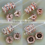 10mm Crystal Spacer Rose Gold Beads ! GZKJL-CT0047