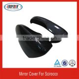 China factory body kits carbon FOR VW Scirocco 2014 side car mirror cover flag