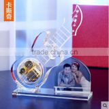 New Design - Crystal Glass Guitar Model With Photo Frame For Wedding Souvenirs Gift 2015