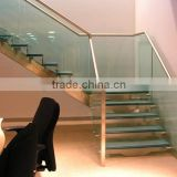 High Quality Clear Tempered Float Glass Glass Stairs Price