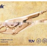 sparkless Beryllium Copper 6 inch Short-nose single setting lock-grip pliers high quality supplier