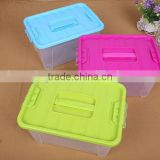 38.1*26.8*20.2cm In Stock Colorful Transparent Clear Plastic PP Storage Box Packaging Boxes For Shoes Foldable Organizer Box