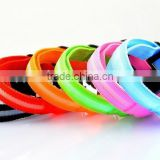 Wholesale Nylon LED Pet Dog Collar & 3 Flashing Mode Night Safty Collars With Replaceable Batteries