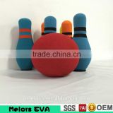 Melors custom kids toy bowling set eva foam bowling ball and bowling pin for kids playing