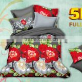 Flower design bed linen