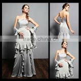 2014 Ruffles Sashes Metalic Ash Mother Of The Bride Dresses Mo1040