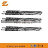 Plates machine extruder conical screw barrel / set for Plastic Granules