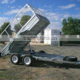Strong hydraulic tipping cage box utility trailer