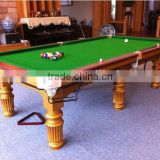 2015 the best selling Solid Wood Golden leg high quality billiard pool snooker games table