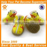JML cheap PU leather fabric summer non slip pet shoes with rubber sole dog hunting boots