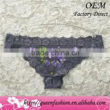 Latest style flower print sex g-string ladies erotic tanga bikini panties for bodywear and sliming