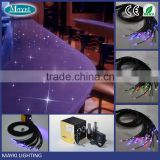 Hight brightness color changing PMMA plastic end lighting fiber optic cable for lighting