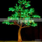 Artificial outdoor cedar lighting tree