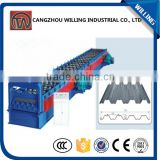 with best price Superior Quality Colored grazed steel roof Tile 720 floor deck roll forming machine