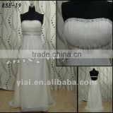 RSE19 Free Shipping Ladies Fashion Beautiful Beaded Sashes Empire Bust Real Sample Custom Chiffion Evening Dress