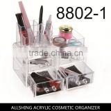 Wholesale Standard-size Acrylic Jewelry & Cosmetic/makeup Organizer Set (1 top 4 Drawers)