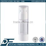 Personal Care Industrial Use Airless Cosmetic Bottles 30ml, Skin Serum Cosmetic Plastic Airless Bottle