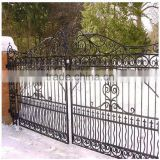 Custom height and colors steel main gate designs Electrostatic spraying