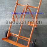 "Hand Trolley with 8"" Solid wheel for Double Gas Cylinder"