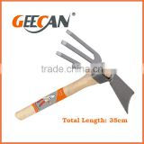 Stainless steel wooden handle Garden hoe Fork hoe