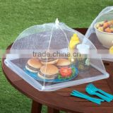 Mesh Screen Food Cover Tents - Set of 2 Large Galvanized Steel Wire Pop-Up Tents, Stylishly and Conveniently Keeps Bugs Away Fro