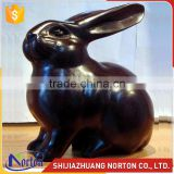 Black cute bronze rabbit sculpture home indoor decoration NTBH-047LI