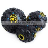 The dog sound strange leaking water ball hard rubber ball 7.5cm small dog pet lienteric tooth chew toy.