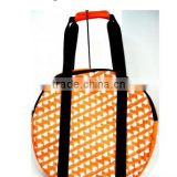cutsomeized size logo Eco -friendly orange round travel duffle bag for women