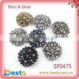 2013 popular new style handmade sew on crystal flower for shoes