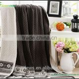 Cotton knitted blanket for hospital bed and picnic soft blanket Knit Baby Blanket