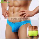 Sexy colorful mens boxer briefs in own design man sexy underwear transparent men's knitted briefs