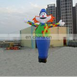 Colorful clown inflatable waver,sky dancer