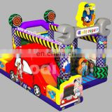 AOQI cheap price fantastic new design auto repair inflatable combo for kids