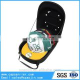 Light weight Black cap carrier bag with emboss logo