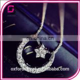 Korean grapheme figure character short clavicular sterling silver necklaces