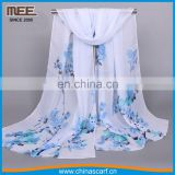 hot sell celeste and white all-match silk cheap fashion scarves
