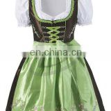 Women Custom Cotton Polyester Trachten Mini Dirndl Octoberfest Dirndl Munich Dress (Oktoberfest Clothing)