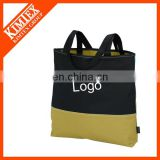 Canvas jute customized logo foldable shopping tote bag