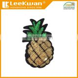 sequin fruit pineapple embroidered patch, iron on sequin fruit patch,sequin bead pineapple appliques