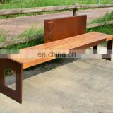 Outdoor Seating Public Corten Steel Bench