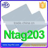 Top supplier CE high frequency 13.56mhz smart card Ntag203 chip ISO14443A