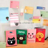 Cartoon ,Four folder notepad , printed different animals